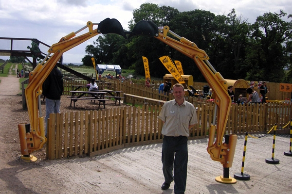Excavator Arm Entrance