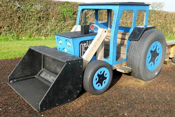Tractor with Front Bucket
