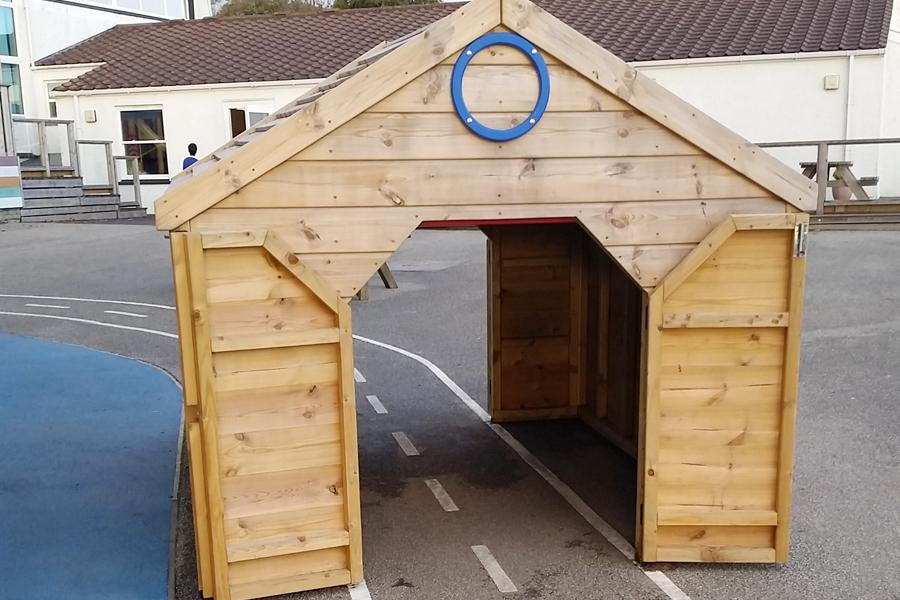 Drive Through Storage Hut