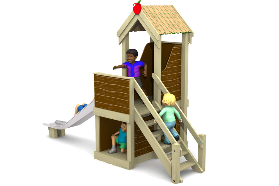 Apple Cottage Slide HDPE wood effect