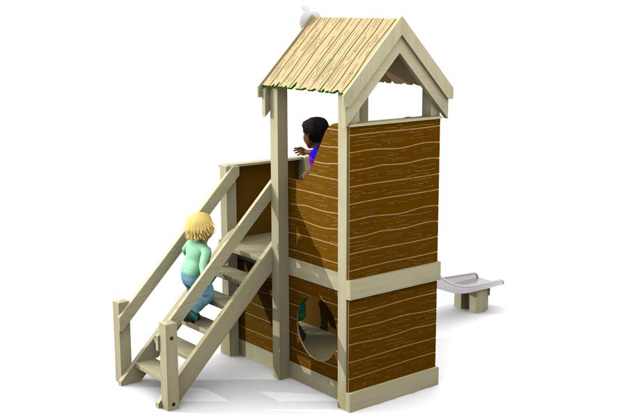 Apple Cottage Slide HDPE wood effect
