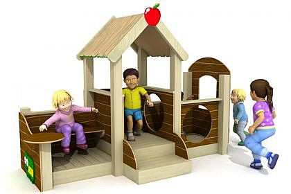 Apple Cottage HDPE wood effect