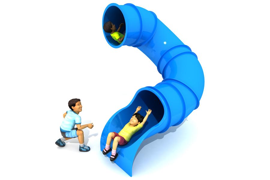 180° 1.5m Deck Height Spiral Tube Slide