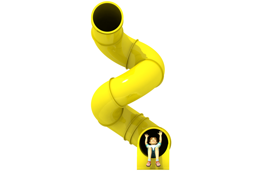 540° 3.5m Deck Spiral Tube Slide