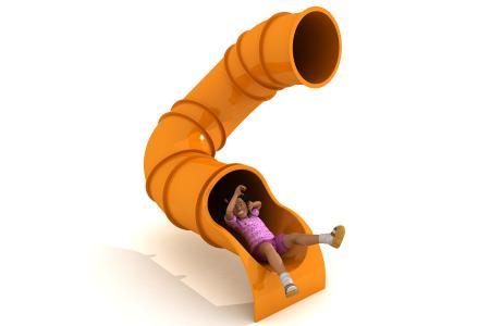 180° 1.8m Deck Height Spiral Tube Slide