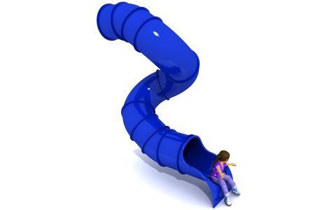 360° 3m Deck Spiral Tube Slide