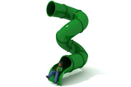 540° 3m Deck Spiral Tube Slide